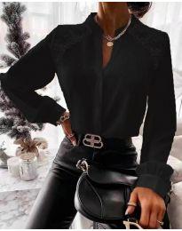 Кокетна дамска риза в черно - код 9902