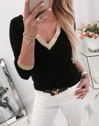 Дамска блуза в черно - код 3149