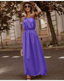 Изчистена рокля в лилаво - код 3323