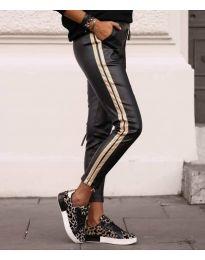 Дамски панталон в черно - код 8788 - 1