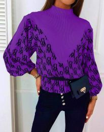 Дамска блуза в лилаво - код 3829