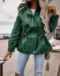 Атрактивно дамско яке в зелено - код 7866
