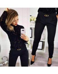 Дамски панталон в черно - код 9907