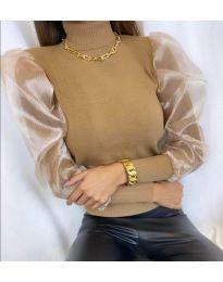 Дамска блуза в кафяво - код 0780
