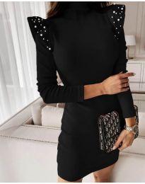 Елегантна рокля по тялото в черно - код 9494