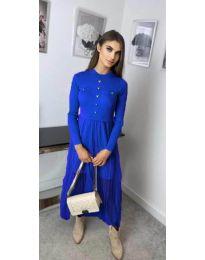 Дълга рокля в синьо - код 185