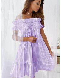 Свободна рокля в лилаво - код 0299