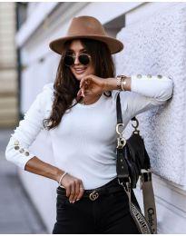 Дамска блуза в бяло - код 4448