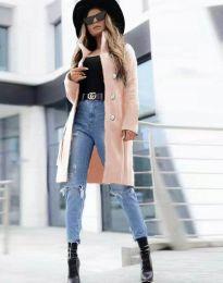 Дамско палто в розово - код 2749