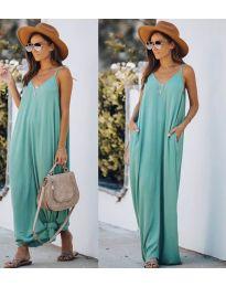 Свободна дълга рокля в зелено - код 0209