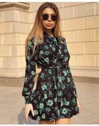 Дамска рокля с ефектен десен - код 6555 - 3