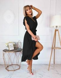 Елегантна дамска рокля в черно - код 8934