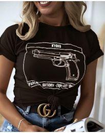Дамска тениска в черно - код 3024