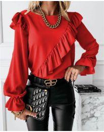 Дамска блуза в червено - код 6009
