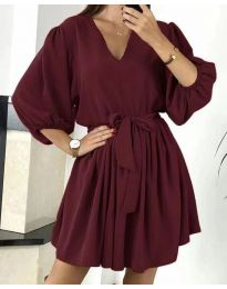 Свободна рокля в бордо - код 6210