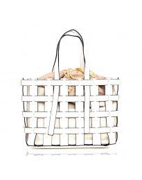 Дамска чанта в бяло  - код LS563
