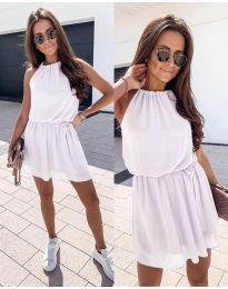 Ефирна дамска рокля в бяло - код 513