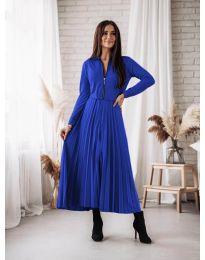 Елегантна рокля в тъмно синьо - код 1544