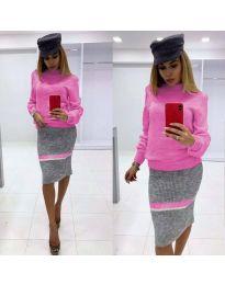 Дамски комплект в розово - код 3005