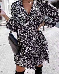 Дамска рокля с атрактивен десен - код 2827 - 2