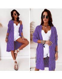 Плетена жилетка в лилаво - код 6532