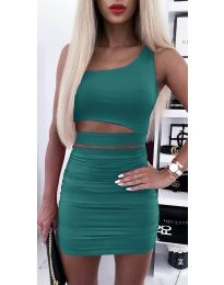 Дамски комплект в зелено - код 5533