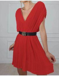 Изчистена рокля в цвят червено - код 5670