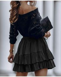 Стилна пола в черно - код 4122