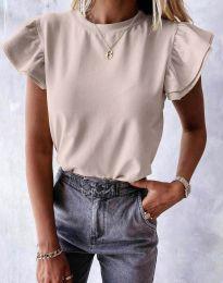 Дамска тениска в бежово - код 6215