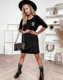 Дамска рокля в черно - код 7089