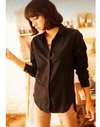 Дамска риза в черно - код 10508