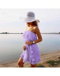 Ефирна рокля в лилаво - код 4849