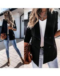Елегантно дамско сако в черно - код 949