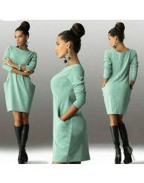 Изчистена рокля в зелено - код 341