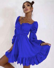 Стилна дамска рокля в синьо - код 8469