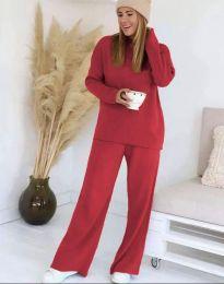 Дамски комплект в червено - код 9078