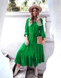 Дамска рокля в зелено - код 6522