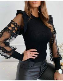 Дамска блуза в черно - код 40222