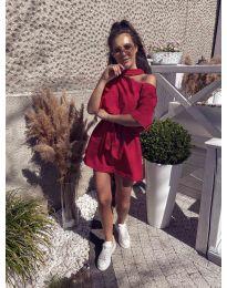 Свободна дамска рокля в червено - код 022