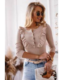 Дамска блуза в бежово - код 9792