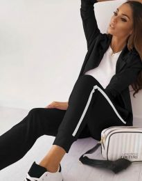 Дамски спортно-елегантен комплект в черно - код 5852
