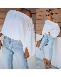 Дамска блуза в бяло - код 5151