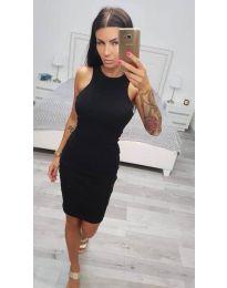 Изчистена рокля по тялото в черно - код 2623