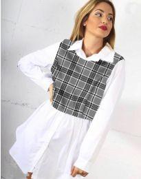 Дамска риза в бяло - код 9990 - 4