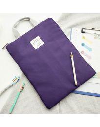 Дамска чанта в тъмно лилаво - код B127