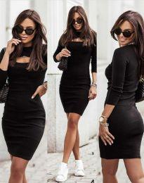 Дамска рокля в черно - код 7376