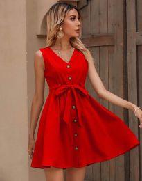 Дамска рокля в червено - код 8188