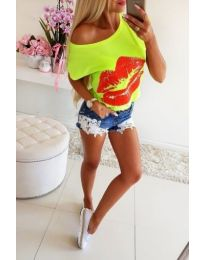 Тениска в неоново жълто - код 300