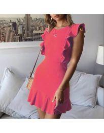 Елегантна рокля в цвят циклама - код 548