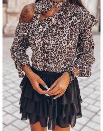 Дамска блуза в кафяво - код 2084